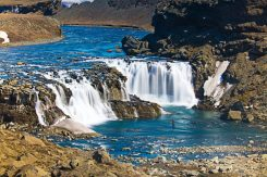 Fishing Highlands waterfall pool Fly Fishing Tour | Hidden Iceland