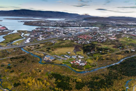 Reykjavik in Autumn from Elliðaárdalur | Helicopter Tours | Hidden Iceland