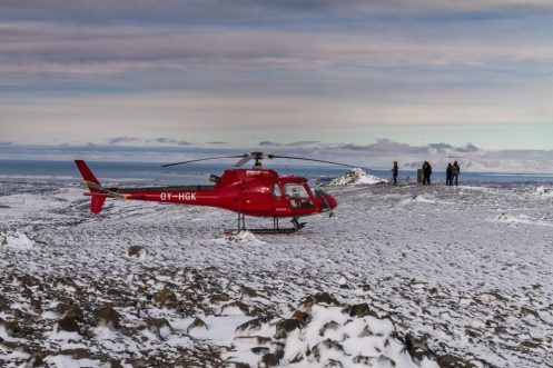 Summit Landing in Wintertime | Helicopter Tours | Hidden Iceland