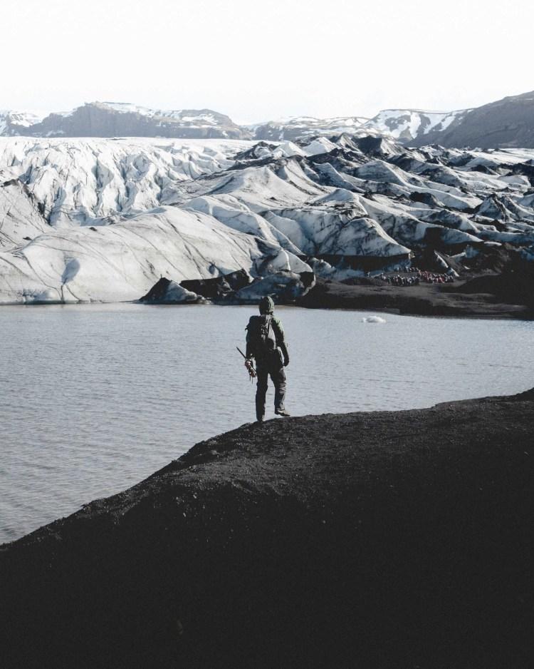 The walk to Solheimajökull Glacier | Hidden Iceland | Photo by Norris Niman