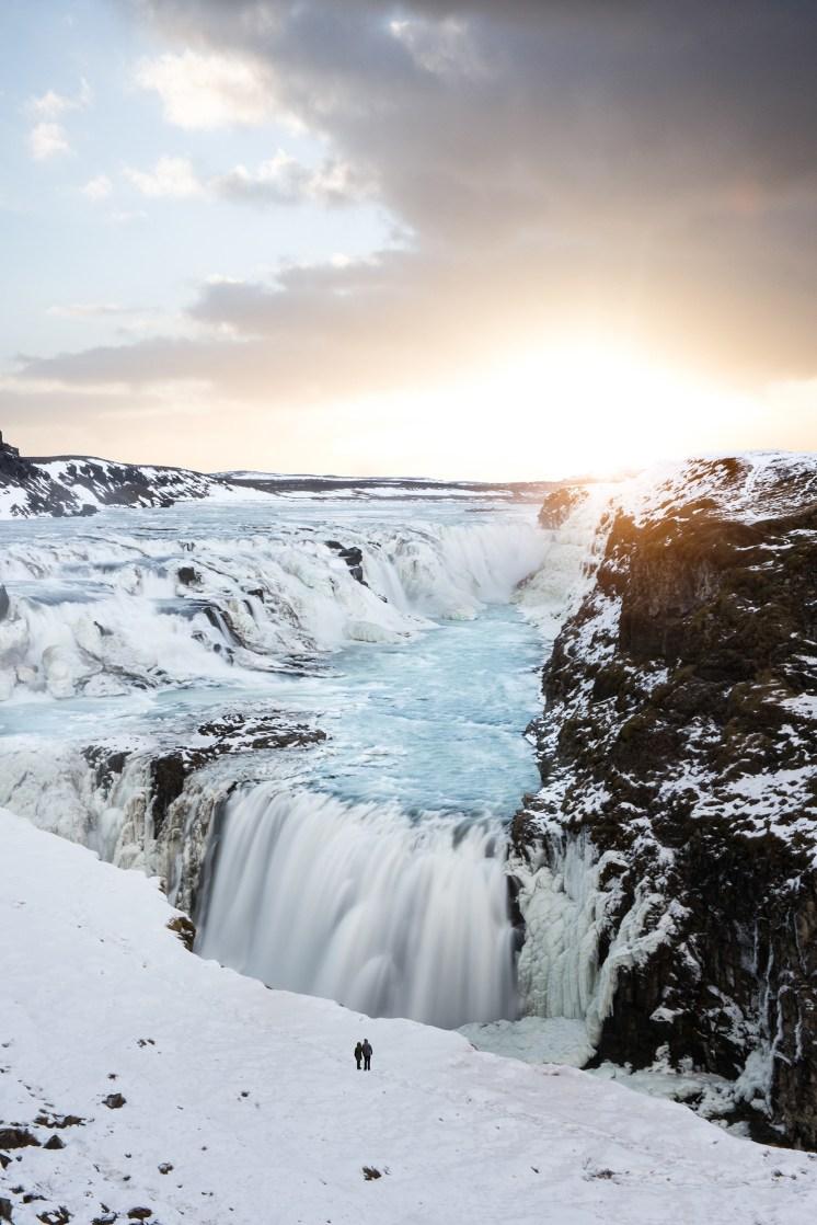 Golden Hour over Gullfoss waterfall | Golden Circle: Platinum Tour | Hidden Iceland | Photo by Tom Archer | Feature