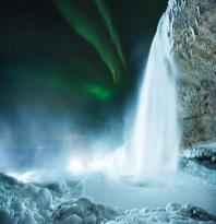 Seljalandsfoss Northern Lights   Winter Lights photo tour with Tom Archer & Wahyu Mahendra   Hidden Iceland   Photo by Tom Archer