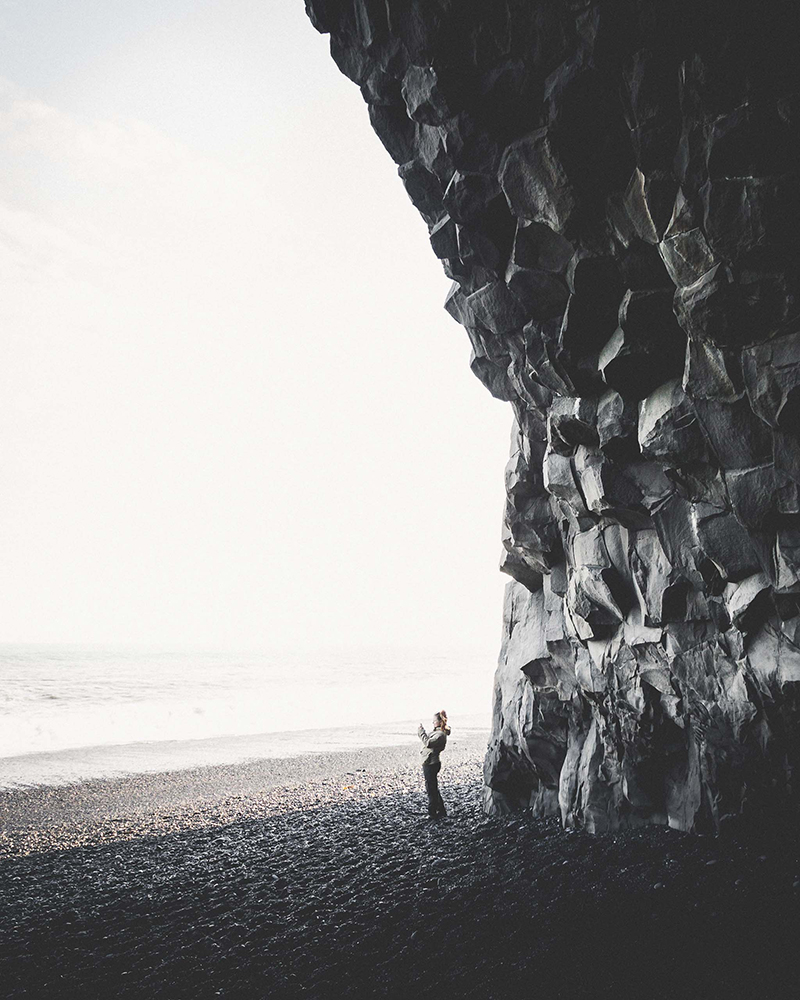 Reynisfjara Black Sand Beach | South Coast: Fire & Ice Tour | Hidden Iceland | Photo by Norris Niman