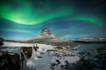 Kirkjufell Mountain | Northern Lights | Snæfellsnes Peninsula | Hidden Iceland | Photo by Tom Archer