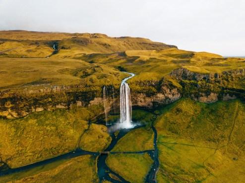 Seljalandsfoss Aerial | Hidden Iceland | Photo Danny Mcgee | Featured