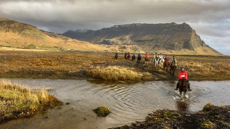 Horse Riding | Horseback | Eyjafjalla | River | Eyjafjöll | Horseback | Farm | Hidden Iceland | Photo Skálakot