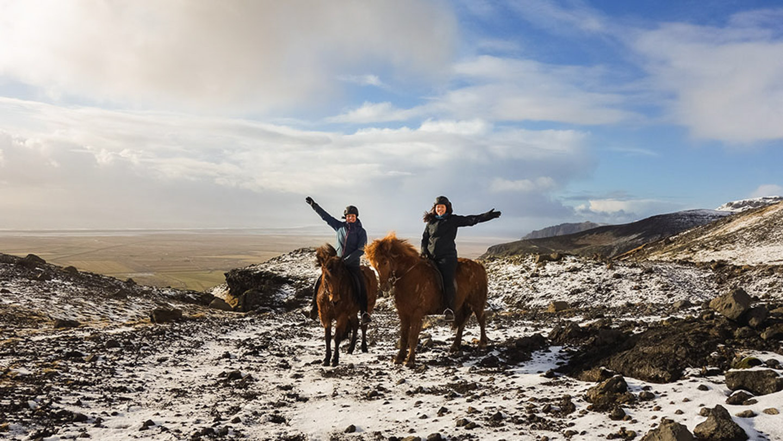 Horse Riding | Horseback | Snow | Glacier | Trail | Horseback | Farm | Hidden Iceland | Photo Skálakot