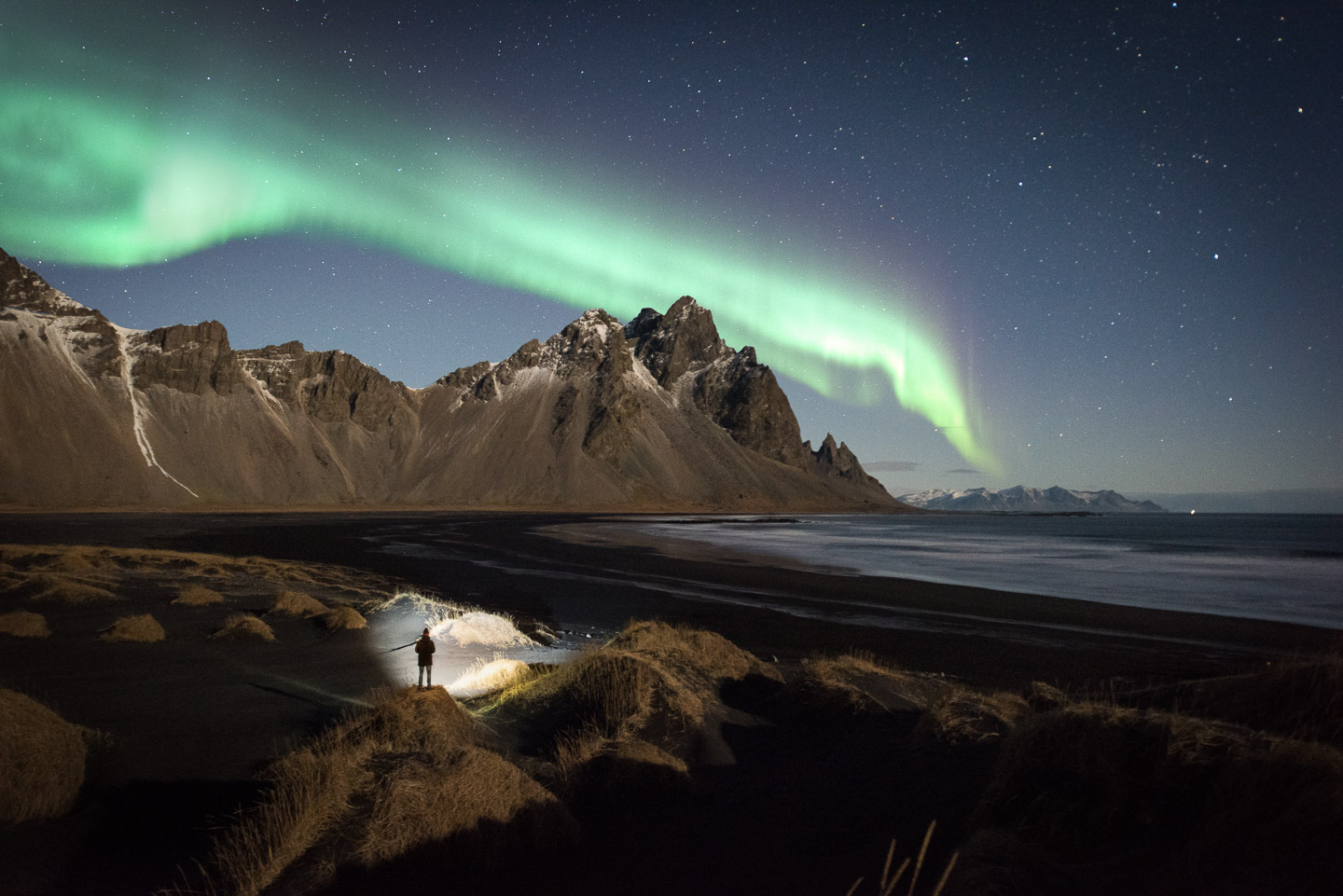 Stokksnes with Northern Lights. Private Tour with Hidden Iceland | Photo Tom Archer | Featured
