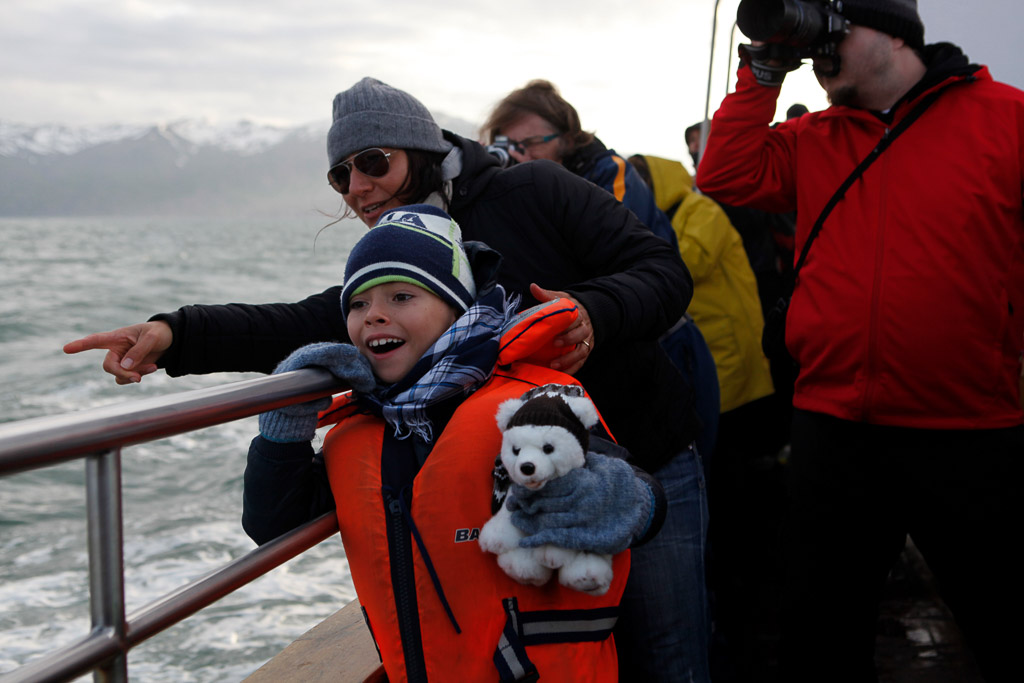 Whale Watching Passengers | Hidden Iceland | Photo North Sailing