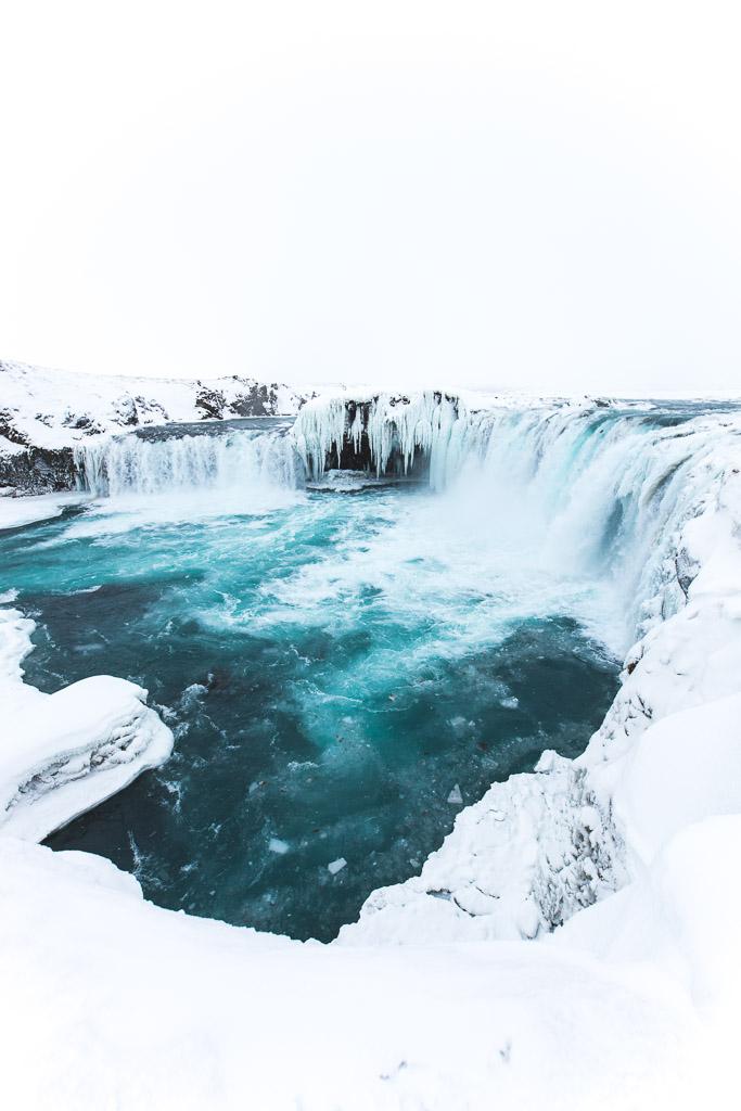 Góðafoss in Winter | Hidden Iceland | Photo Brendan Bannister