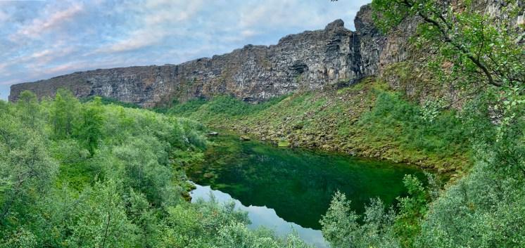 Ásbyrgi Canyon in the Diamond Circle | Hidden Iceland | Photo Scott Drummond. North Iceland Asbyrgi.