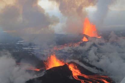 Bárðarbunga Volcano. September 4th 2014. Wikimedia Commons.