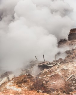 Gunnuhver geyser at Reykjanesviti in the Reykjanes Peninsula. Photo By Norris Niman.