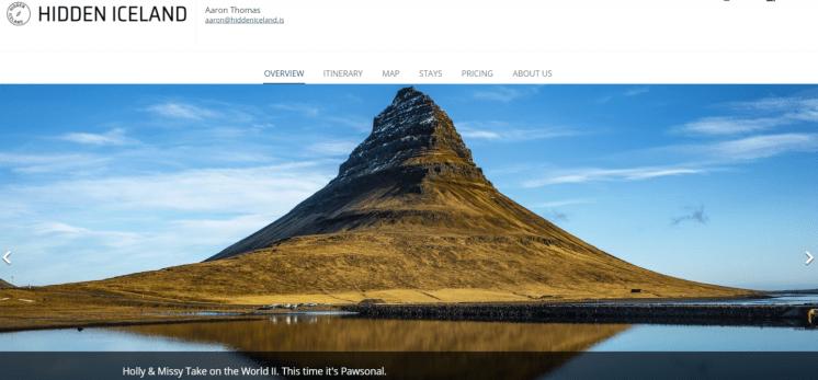 Premium Self Drive Itinerary Screenshot example