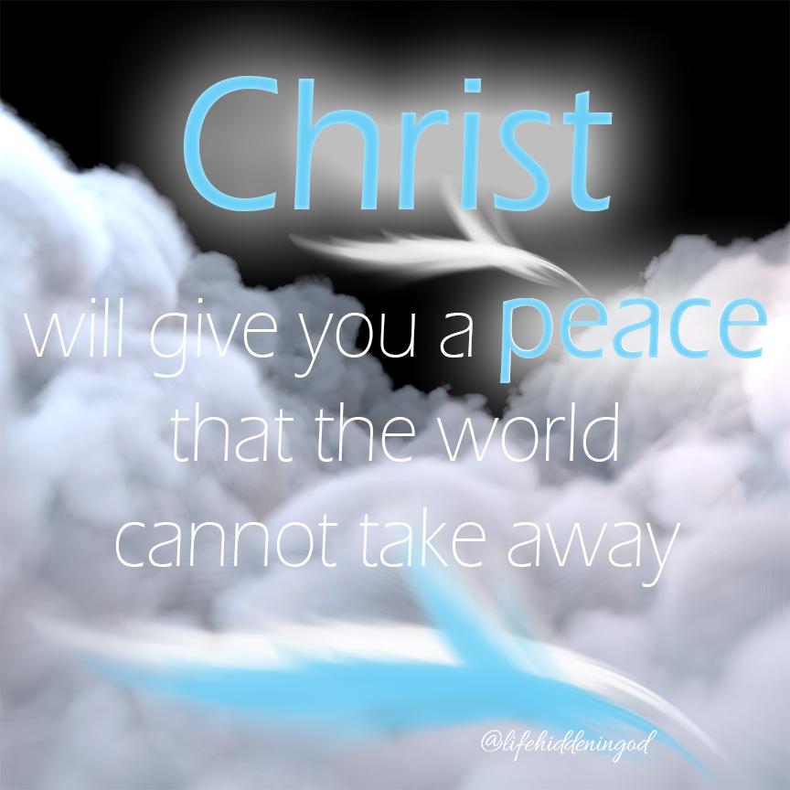 Jesus Leaves His Peace