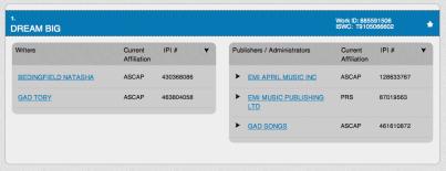Dream Big - Natasha Bedingfield - ASCAP