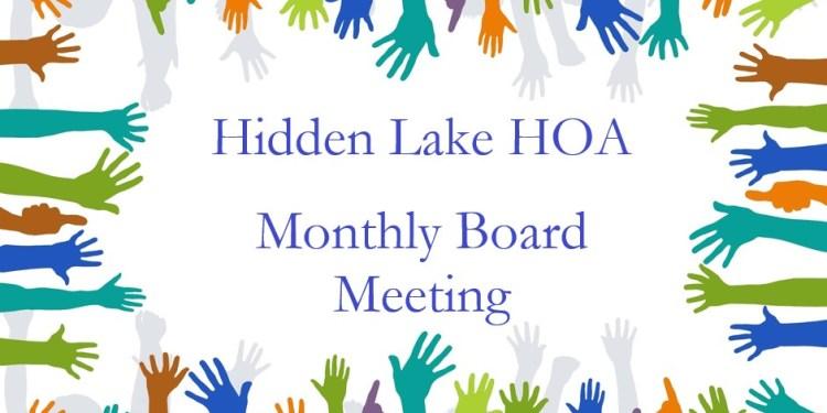 HOA Meeting – Thursday, April 11th