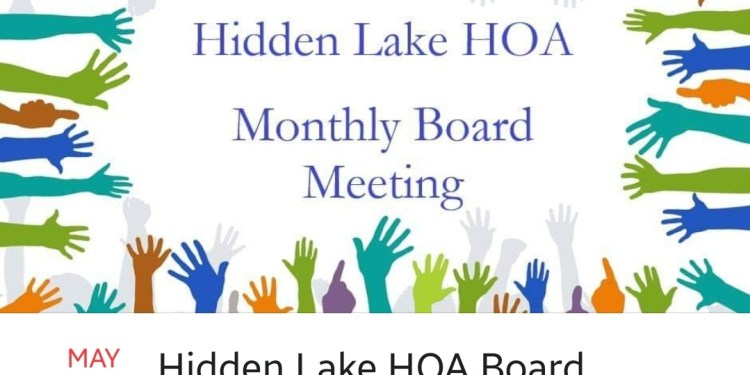 HOA Meeting This Thursday