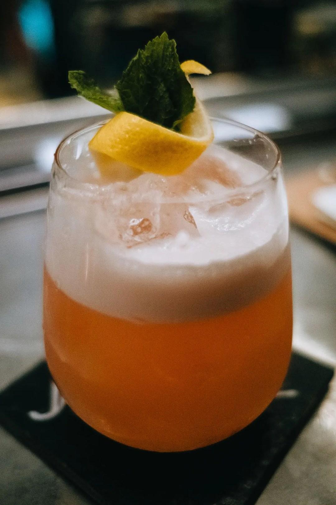 The Blackbird Cocktail at Jungle Cocktail Bar