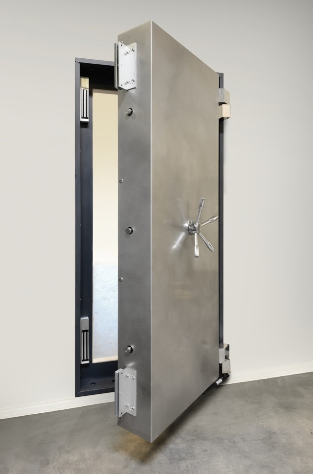 Our panic room doors offer massive bank vault-style mechanical locking system employing ten 1u201d diameter retractable hardened steel shear pins spaced around ... & Secure Panic Room Doors - Hidden Panic Room Entry