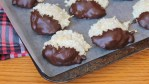 Chocolate Dipped Coconut Macaroons - naturally gluten free