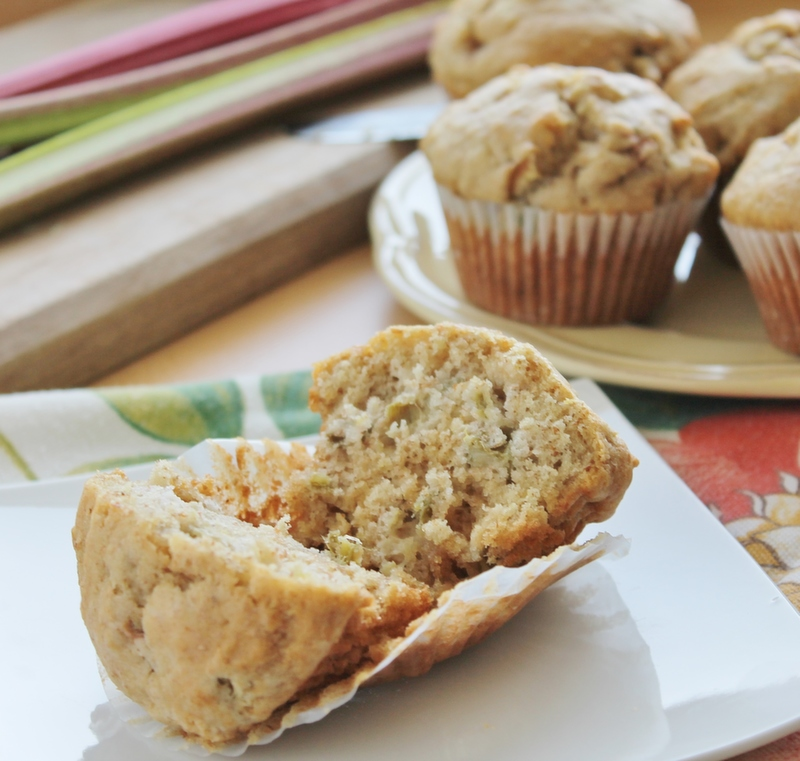 Basic Rhubarb Muffins | hiddenponies.com