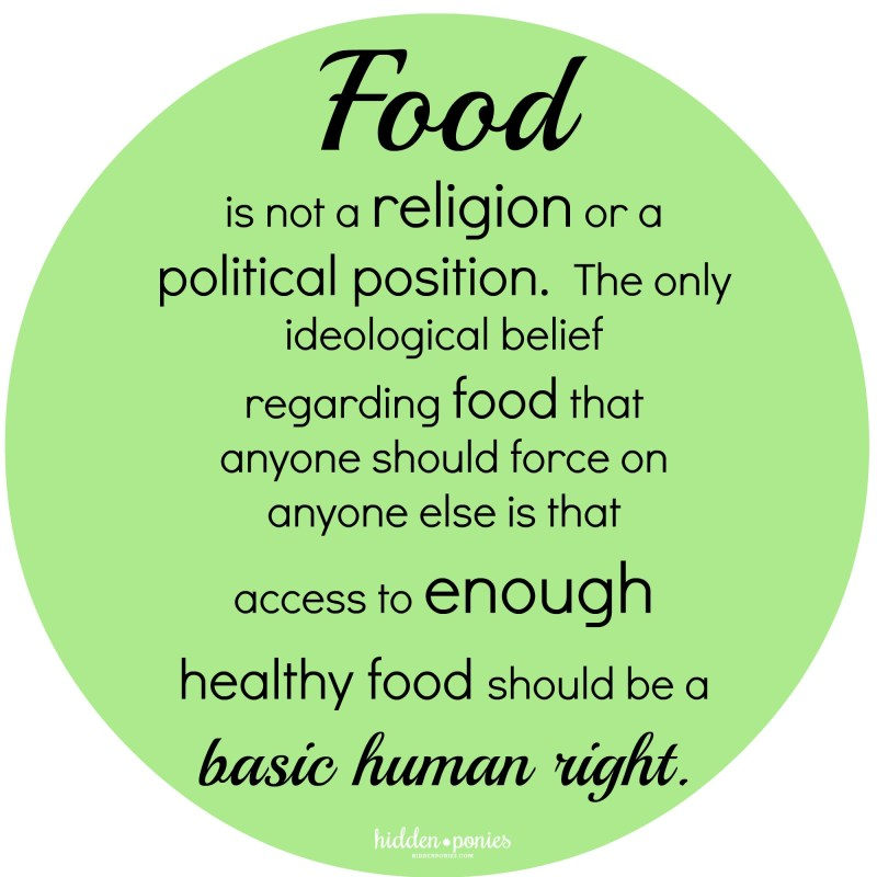 Food is not a religion quote