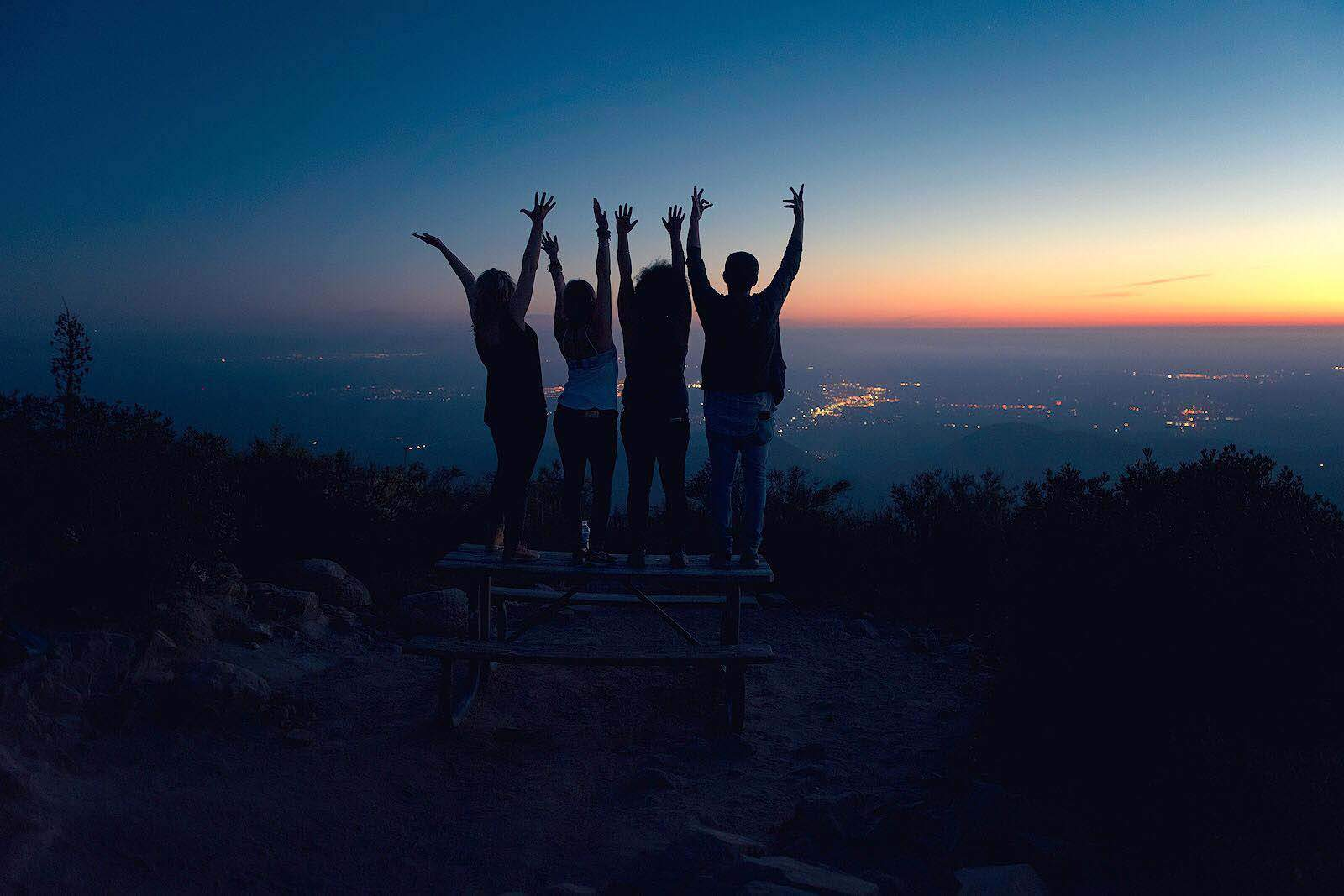 Iron mountain is located in Poway and is the 2nd highest peak in this town. From the top you get beautiful panoramic views that can be seen all the way to the ocean.