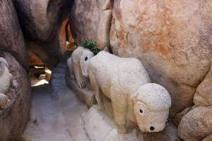 Boulder Park is one of Jacumba's coolest places to explore filled with rocks carved into animals!