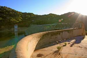 Hike to one of San Diego's historic dams in Escondido, the Lake Wohlford dam. This is an enjoyable lake to fish and hike around.