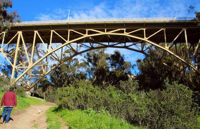 The Maple Canyon is not only a fabulous place to witness and the spring flowers and greenery, but you will also pass by two historic bridges.