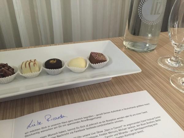 Süßer Empfang im Hotel Estrel