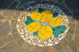 Bodenmosaik in Limone