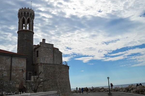 Baden in der Altstadt von Piran
