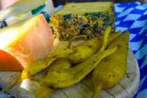 Käse und Pepperoni