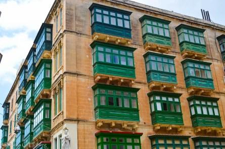 Wohnhaus mit Erkern in Valletta