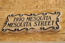 Straßenschild in Mdina