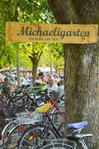 Fahrräder im Michaeligarten