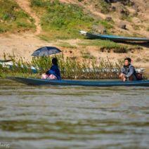 Paar in einem Boot