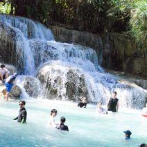 Wasser in Bewegung am Wasserfall