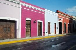 bunter Straßenzug in Mérida