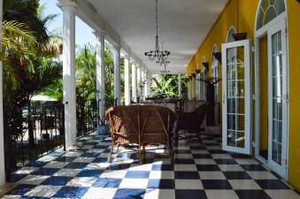 Bunte Fliesen der Villa Anakao Mauritius
