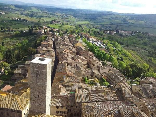 Romantische Toskana in San Gimignano