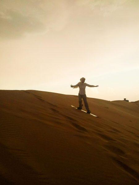 Sandboarding im Oman
