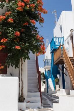 Treppen in Klein Venedig Mykonos