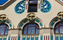 Ainmillerstraße 22 ägyptisch anmutende Ornamente