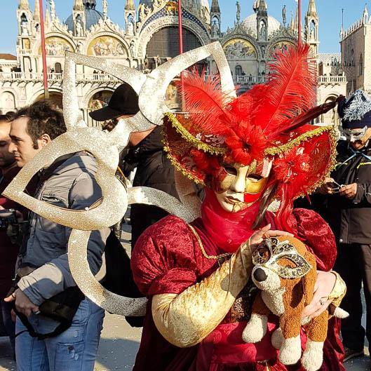 Der liebe Hund Karneval von Venedig