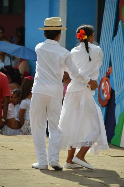 Children dancing Salsa in Sancti Spiritus