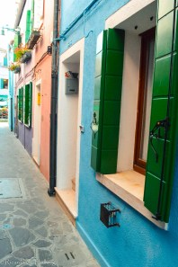 Lane and shutters and Burano