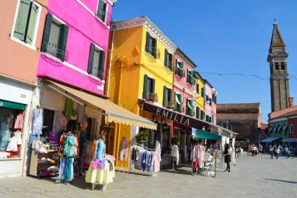 Shopping street of Burano